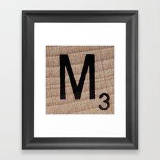 Tile M Framed Art Print