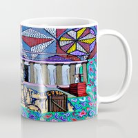 lincoln Mugs featuring Lincoln Memorial by Art By Carob