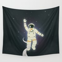 outer space Wall Tapestries featuring Outer Space by Tuylek