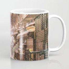 Snow - New York City - East Village Coffee Mug