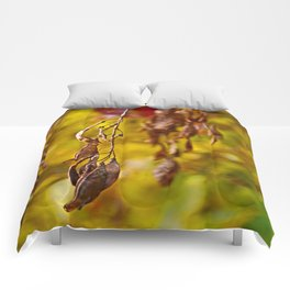 autumn leafs Comforters