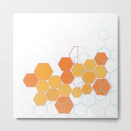 Mosaic orange Metal Print