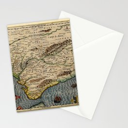 Map Of Andalusia 1606 Stationery Cards
