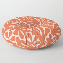 The Cut Outs | Pink & Dark Orange Floor Pillow