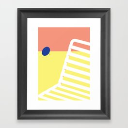 Digital Sound Beach Framed Art Print