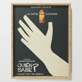 Quién sabe? Movie poster with Klaus Kinski, Gian Maria Volonté, Lou Castel, by Damiano Damiani Serving Tray