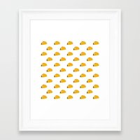 taco Framed Art Prints featuring Taco Taco by Hello Sleepywhale