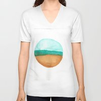 wisconsin V-neck T-shirts featuring Wisconsin by karleegerrand