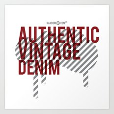 Authentic Vintage Denim Art Print