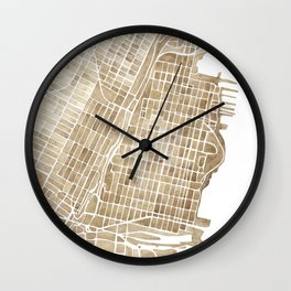 Hoboken New Jersey city map Wall Clock