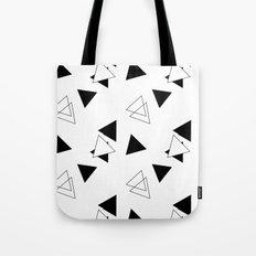 Modern Black Triangles Tote Bag