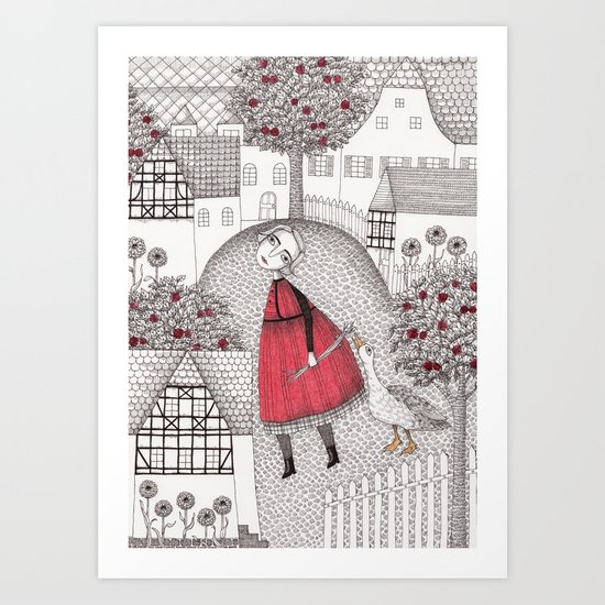 The Old Village Art Print