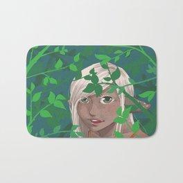 A Leafy Hello Bath Mat