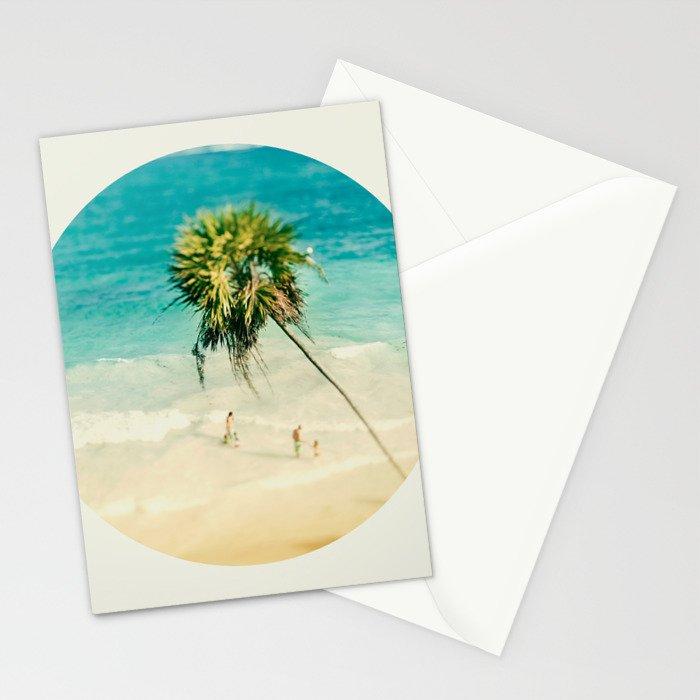 Tilt Shift Beach Photo Stationery Cards