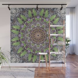 Natural elements in forest mandala Wall Mural