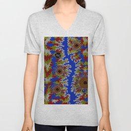 Authentic Aboriginal Art - Waterholes Corela Unisex V-Neck