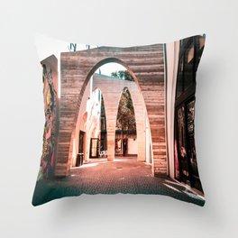 Artsy Hallway Throw Pillow