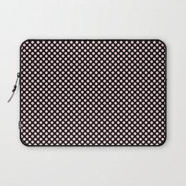Black and Blushing Bride Polka Dots Laptop Sleeve