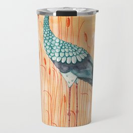 An Exotic Stork Travel Mug