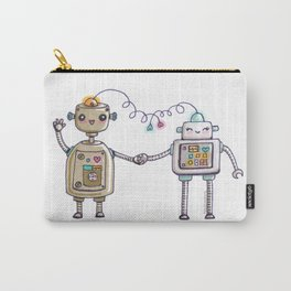 Cute robots in love II Carry-All Pouch