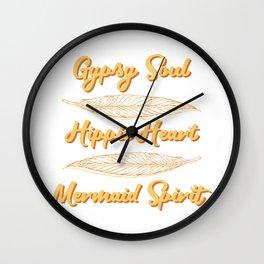 Gypsy Soul Heart Adventure Travel Tshirt Gypsy soul hippie heart Wall Clock