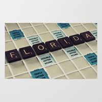 florida Area & Throw Rugs featuring Florida by Sweet Moments Captured