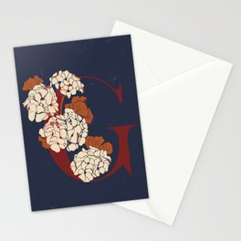 Letter G for Geranium Stationery Cards