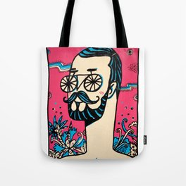 Mr. Bicycle Eyes Tote Bag
