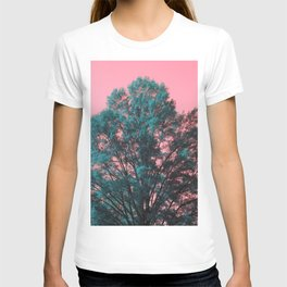 5D Visions : Teal Tree Pink Sky T-shirt
