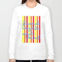 mary poppins Long Sleeve T-shirts featuring supercalifragilisticexpialidocious! I Mary Poppins by Jessica Slater Design & Illustration
