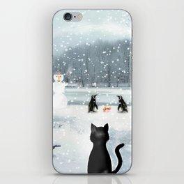 Cat on tour iPhone Skin