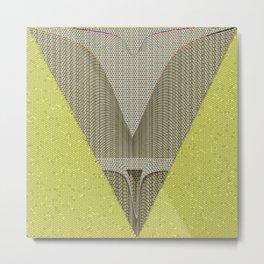Light green and gray abstract Design Metal Print