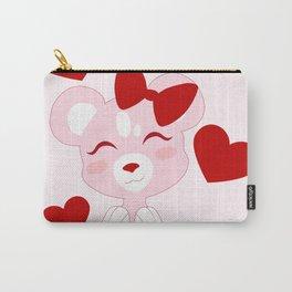 Valentine the Teddy Bear Carry-All Pouch