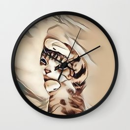 Mondays Kitten Wall Clock