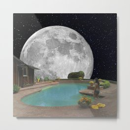 Midnight Swim Metal Print