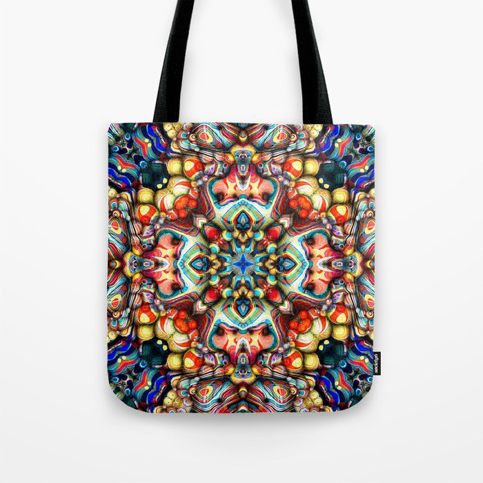 Colorful Shapes Abstract Tote Bag