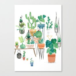 Potted Jungles Canvas Print