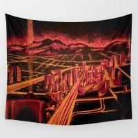 las vegas Wall Tapestries featuring Las Vegas by Rishi Parikh