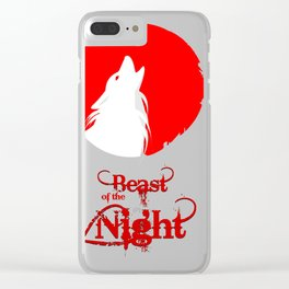 Beast of the Night Clear iPhone Case