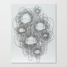 New Line Drawing Canvas Print