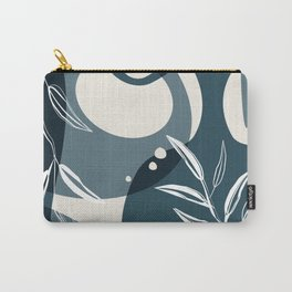 Abstract - Leaves and Vases in Teal and Aqua 3 Carry-All Pouch