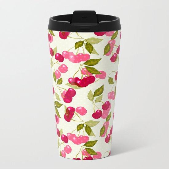 Sweet cherry . Metal Travel Mug