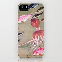 Fish school, Octopus - Digital Remastered Edition iPhone Case