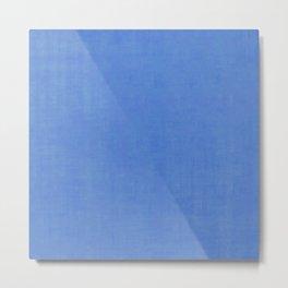 Blue silk crush Metal Print