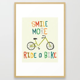 Ride A Bike Framed Art Print