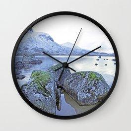 Rocks on Rannoch moor Wall Clock