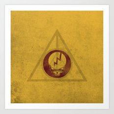 Grateful Deathly Hallows Art Print