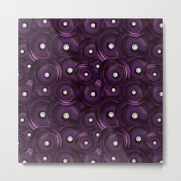 ultra violet satin-pearl pattern Metal Print