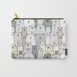 Bear family cartoon Carry-All Pouch