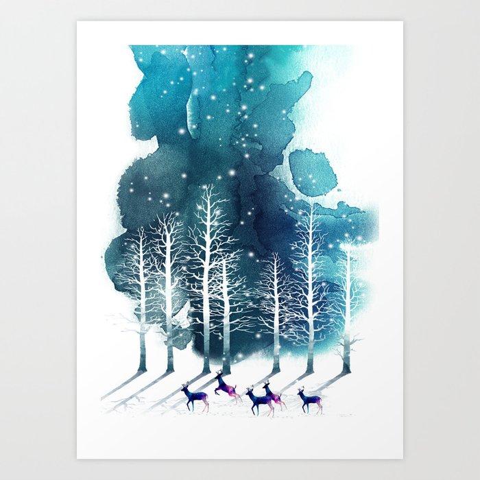 Winter Night 2 Kunstdrucke